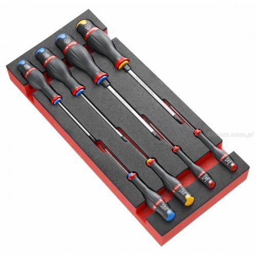 MODM.A2PB - Moduł 8 wkrętaków Protwist® do śrub z rowkiem, Phillips i Pozidriv, wkładka piankowa