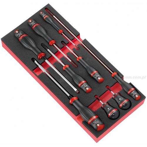 MODM.A4PB - Moduł 9 wkrętaków Protwist® do śrub z rowkiem, 2,5 - 8 mm, wkładka piankowa