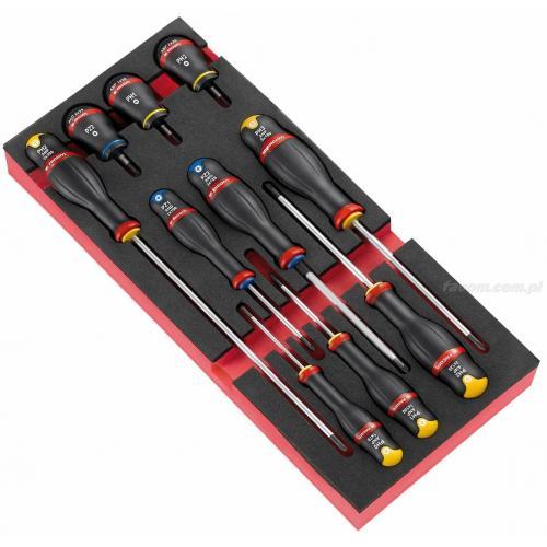 MODM.A5PB - Moduł 10 wkrętaków Protwist® do śrub Phillips i Pozidriv, PH0 - PH3, PZ1 - PZ2, wkładka piankowa