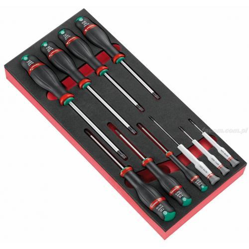 MODM.A6PB - Moduł 10 wkrętaków Protwist® Resistorx® i Micro-Tech® Torx®, T6 – T8 i TT10 – TT40, wkładka piankowa