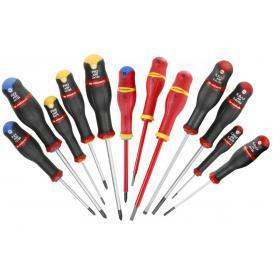 AN.J12R1PB - zestaw wkrętaków Protwist® do śrub z rowkiem, Pozidriv, Phillips, 2,5 - 6,5 mm, PZ1 - PZ 2, PH0 - PH2
