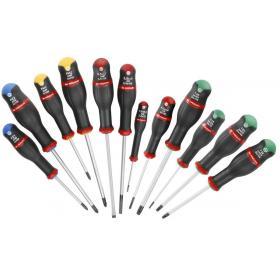 AN.J12R2PB - zestaw wkrętaków Protwist® do śrub z rowkiem, Pozidriv, Phillips i Resistorx