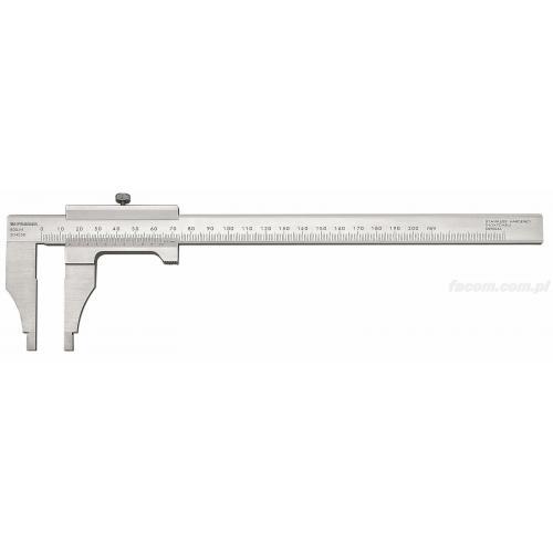 805.M - Suwmiarka mechaniczna warsztatowa - dokładność 1/50, 200 mm