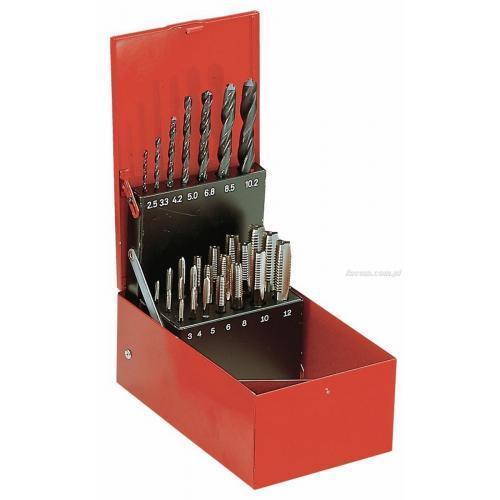 227.SJ2A - zestaw gwintowników kobaltowych i wierteł, M3 - M12, 2,5 - 10,2 mm