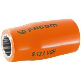 "S.AVSE - VSE series 1000 Volt insulated 12-point 1/2"" sockets, 8 - 22 mm"