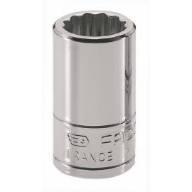 "Seria R.E - nasadki 1/4"" 12-kątne, metryczne 5,5 - 14 mm"