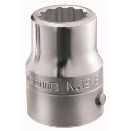 """Seria K.B - nasadki 3/4"""" 12-kątne, metryczne 19 - 55 mm"""