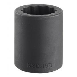 "Seria NSD.B - nasadki udarowe 1/2"", 12-kątne, 8 - 36 mm"