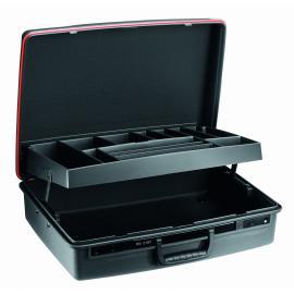 Seria BV.21 - walizki z polipropylenu ze szczelnymi przegrodami, 530 x 390 x 180 mm